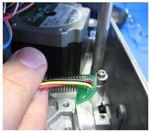 取出热转印打码机传感器
